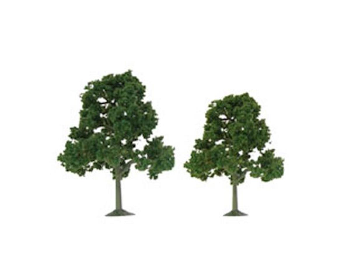 "JTT Scenery Super Scenic Tree, Deciduous 3.5-4"" (4)"