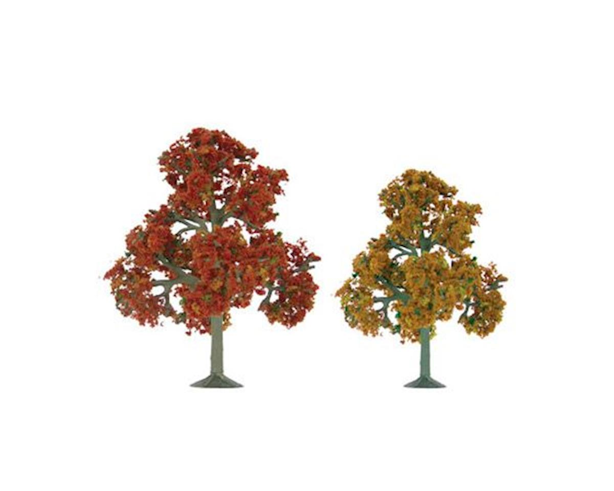 "JTT Scenery Super Scenic Tree, Autumn Deciduous 5.5-6"" (2)"