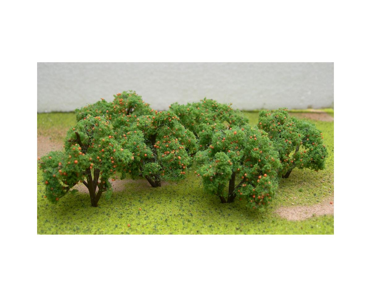 "JTT Scenery Fruit Grove Trees, Orange 2-2.25"" (6)"