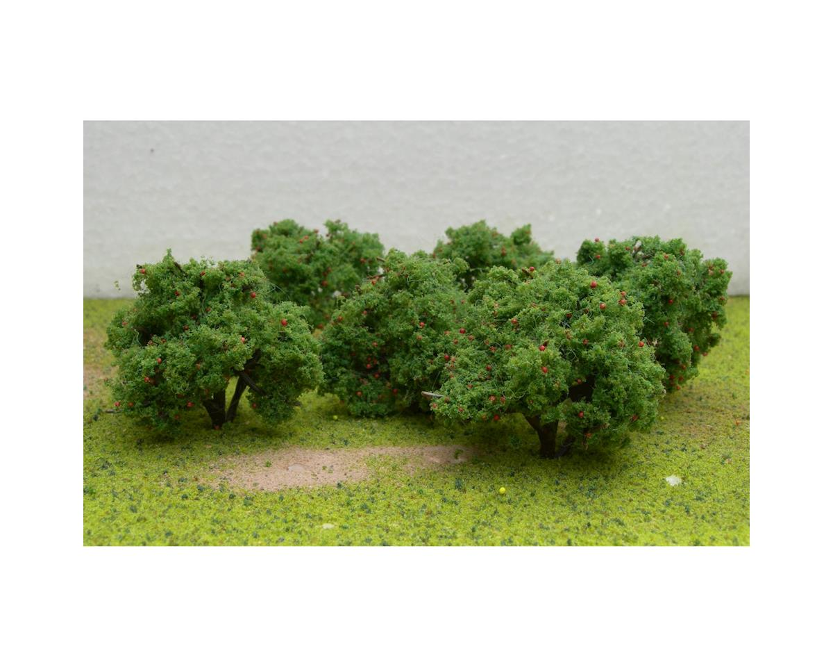 "JTT Scenery Fruit Grove Trees, Apple 2-2.25"" (6)"