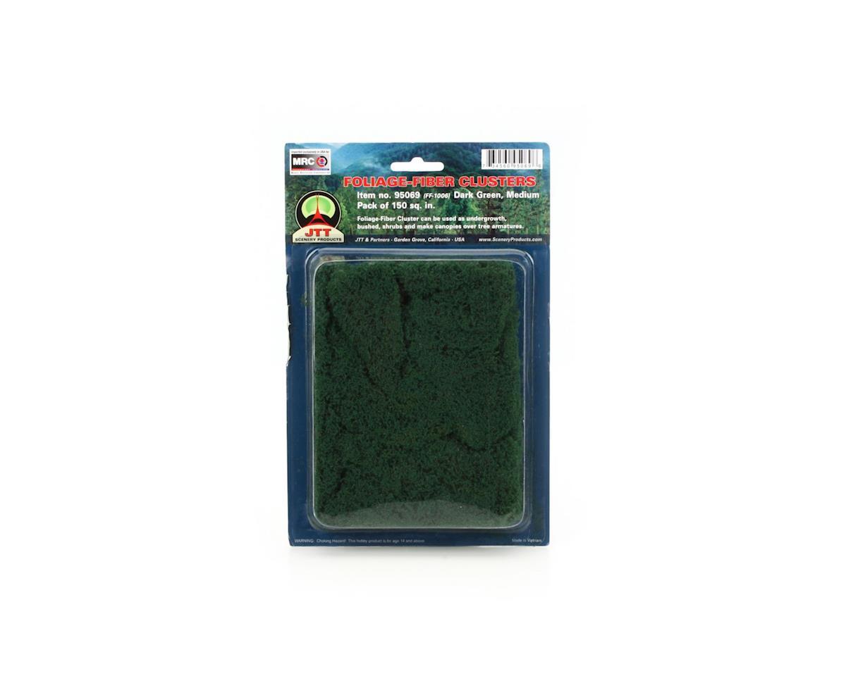 JTT Scenery Medium Foliage-Fiber Cluster, Dark Green