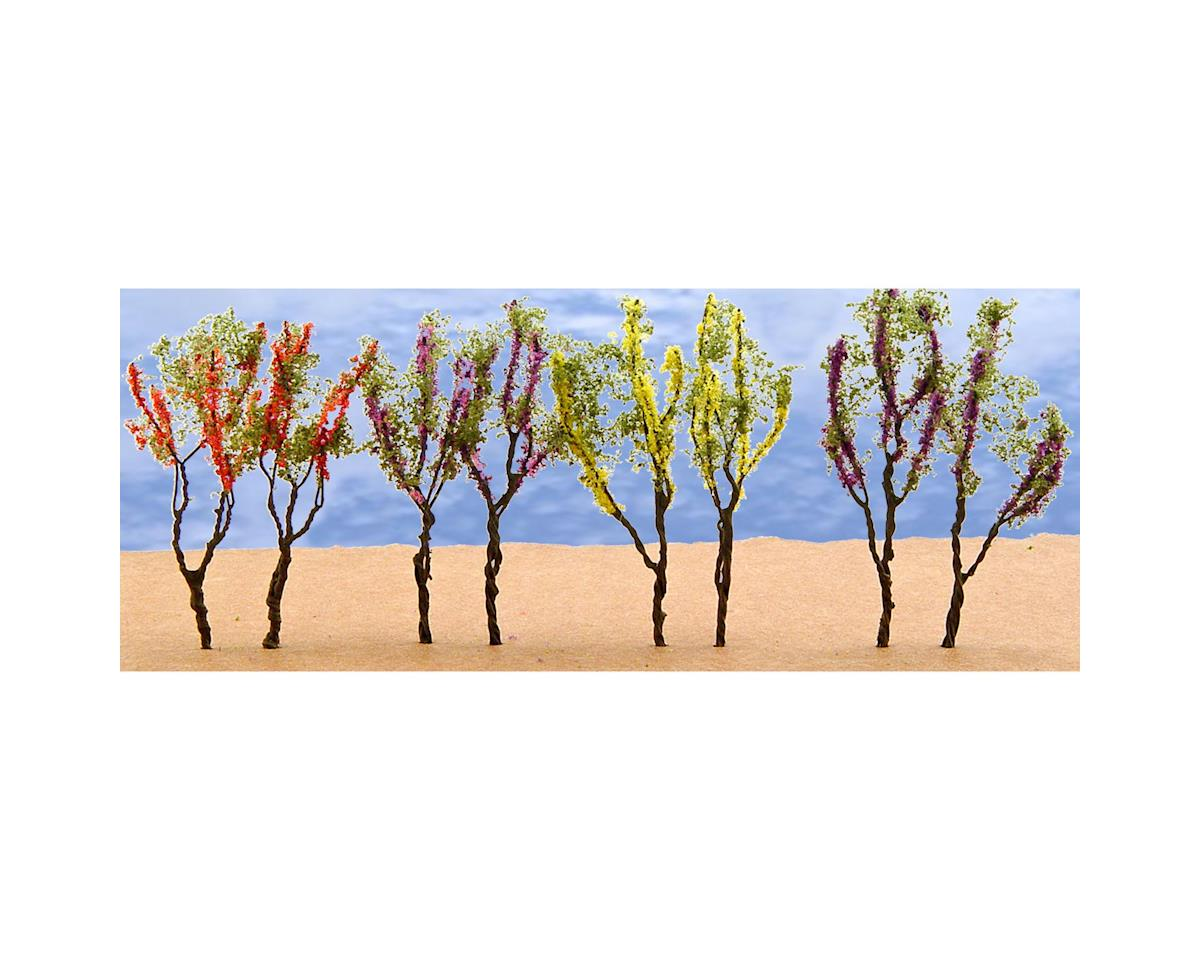 "JTT Scenery Flower Trees, Red/Pink/Yellow/Purple 1.5-2"" (24)"