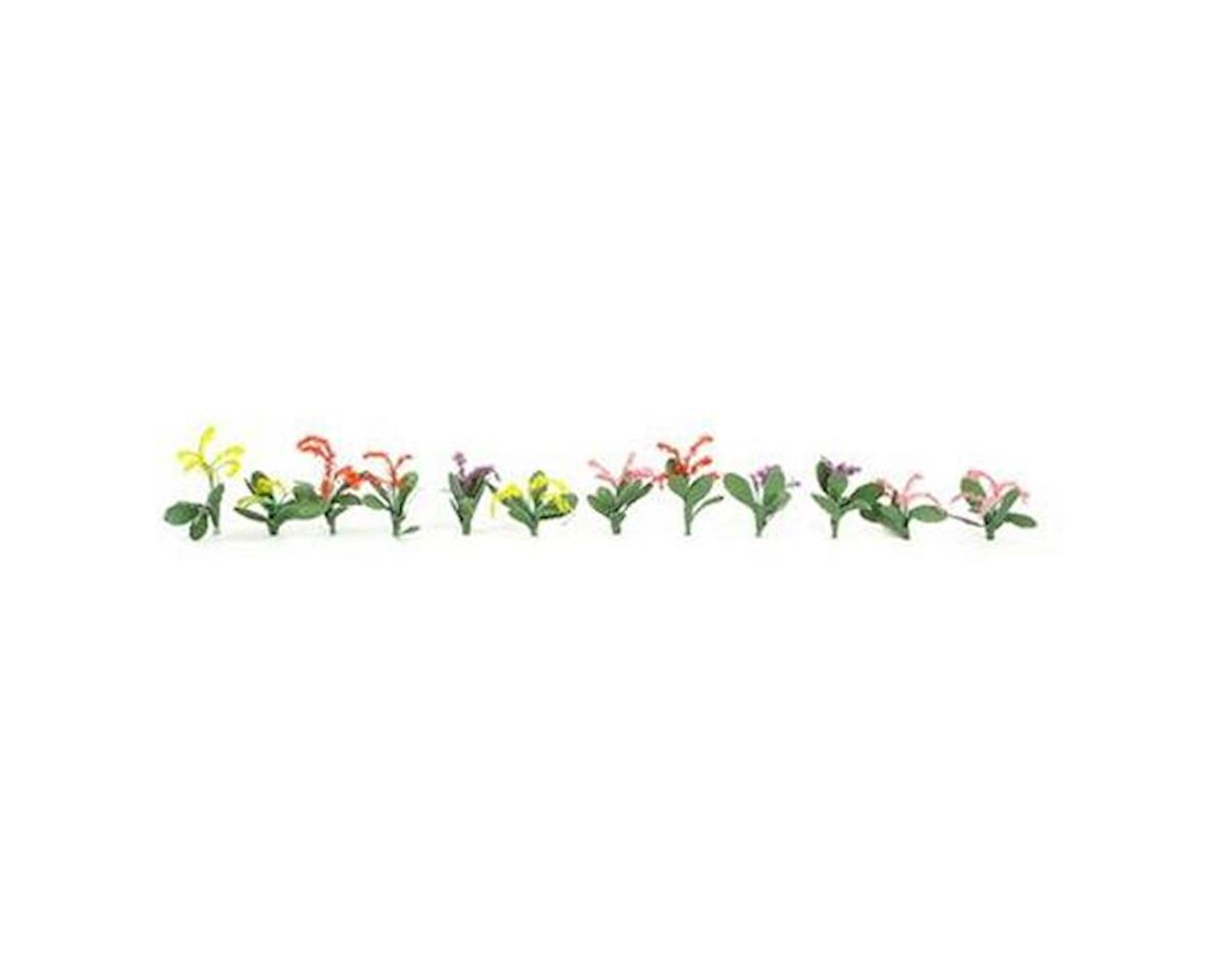 "JTT Scenery Petunias, Red/Pink/Yellow/Purple 3/4"" (40)"