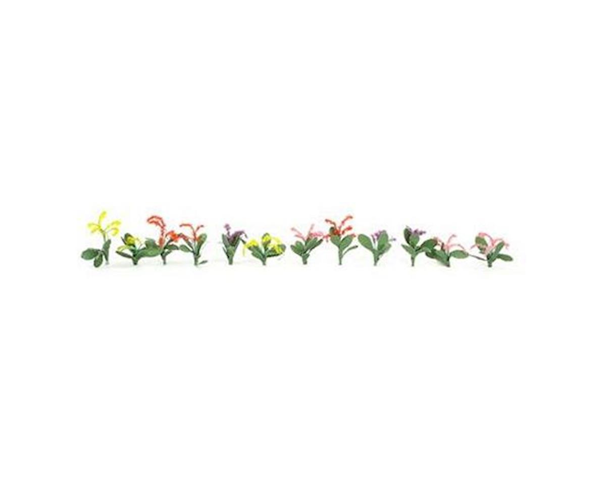 "JTT Scenery Petunias, Red/Pink/Yellow/Purple 3/4"" (40)"