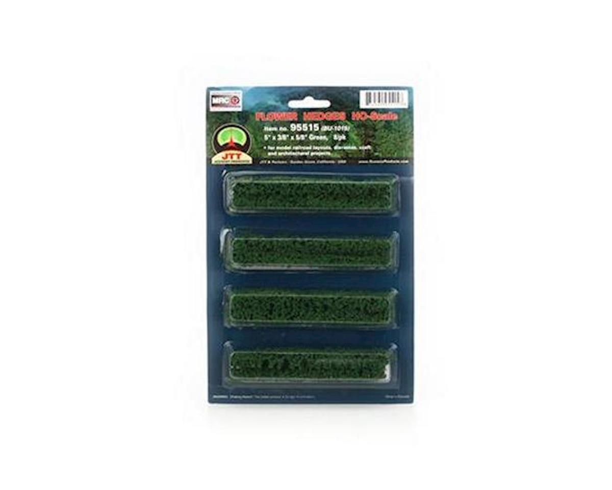 "JTT Scenery Flower Hedges, Green 5x3/8x5/8"" (8)"