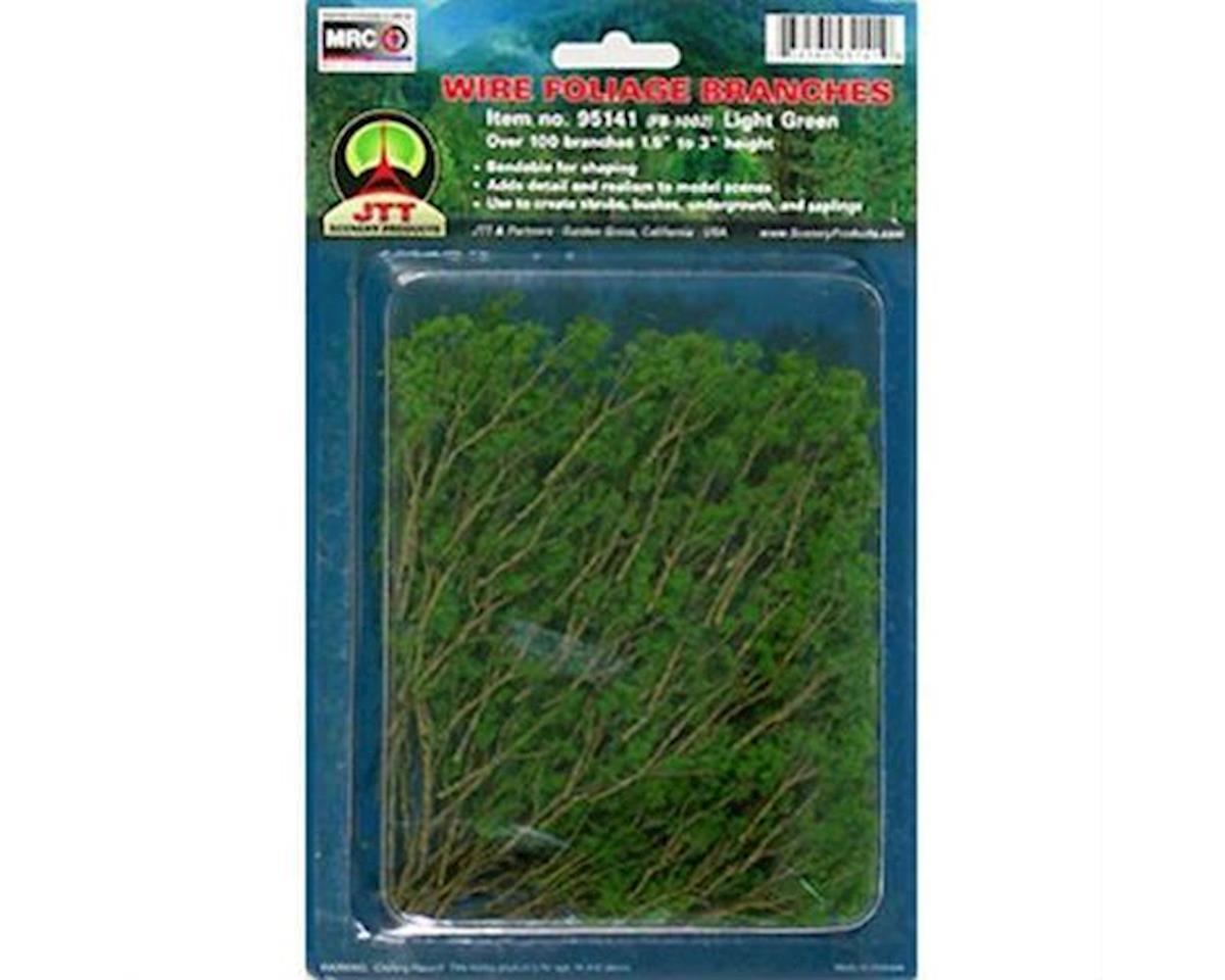 JTT Scenery Wire Branches, Lt Green 1.5-3""