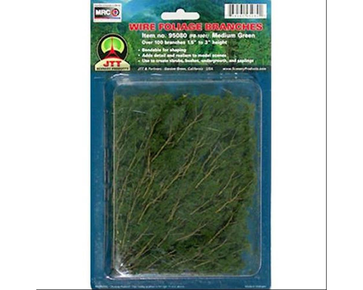 """JTT Scenery Wire Branches, Med Green 1.5-3"""""""
