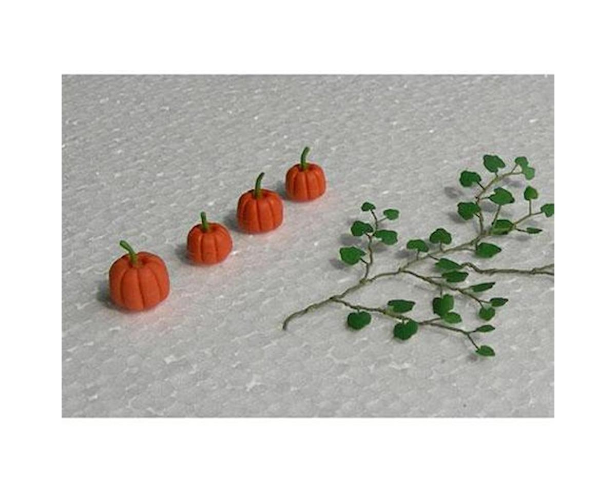 "JTT Scenery HO Pumpkins, 1-3/8"" long (6)"