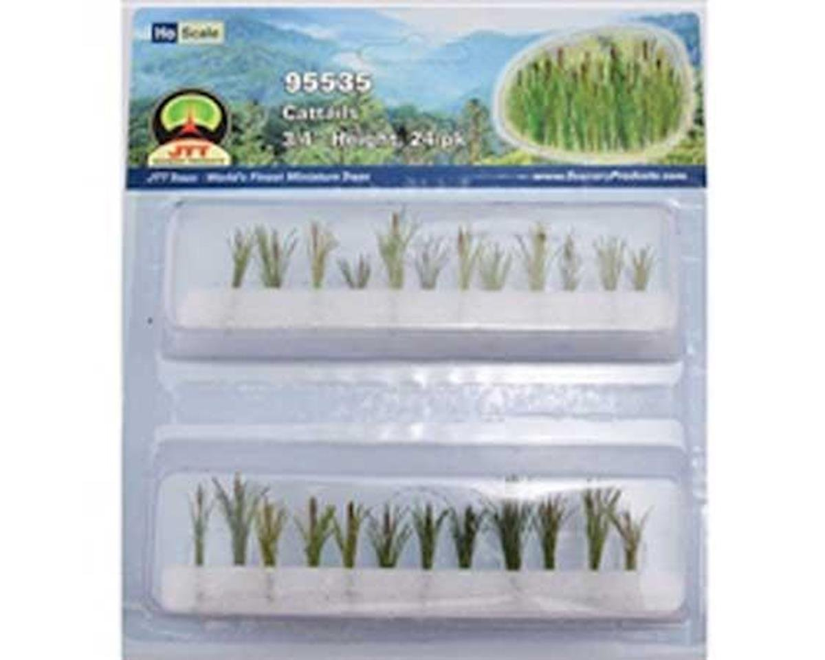 "JTT Scenery HO Cattails, .75"" tall (24)"