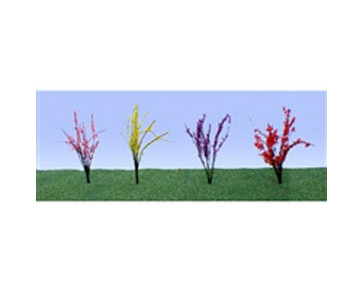 "JTT Scenery Flower Bushes,Red/Pink/Yellow/Purple .5-.75""(40)"