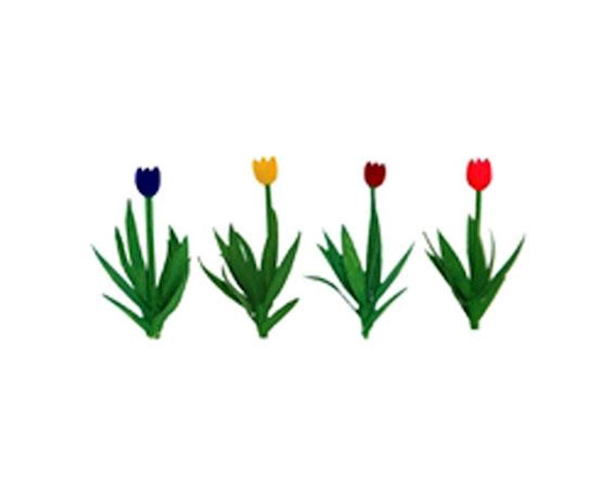 "JTT Scenery Tulips, Red/Pink/Yellow/Purple 1/2"" (36)"
