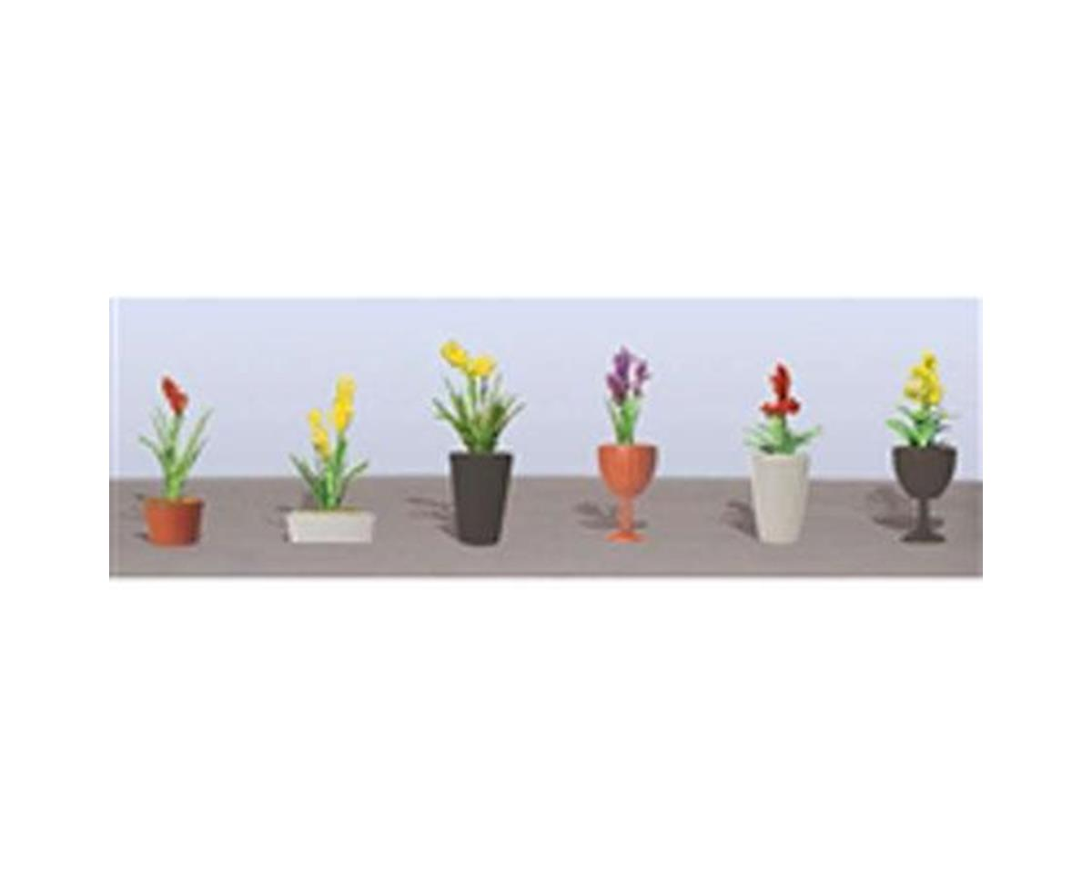 "JTT Scenery Flowering Potted Plants Assortment 2, 1-1/2"" (6)"