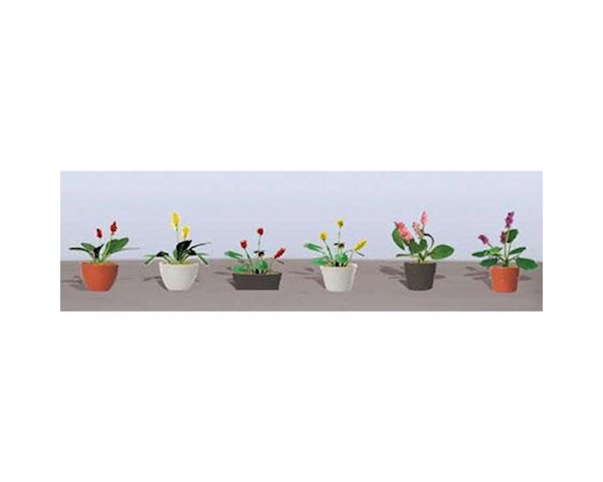 "JTT Scenery Flowering Potted Plants Assortment 3, 1"" (6)"