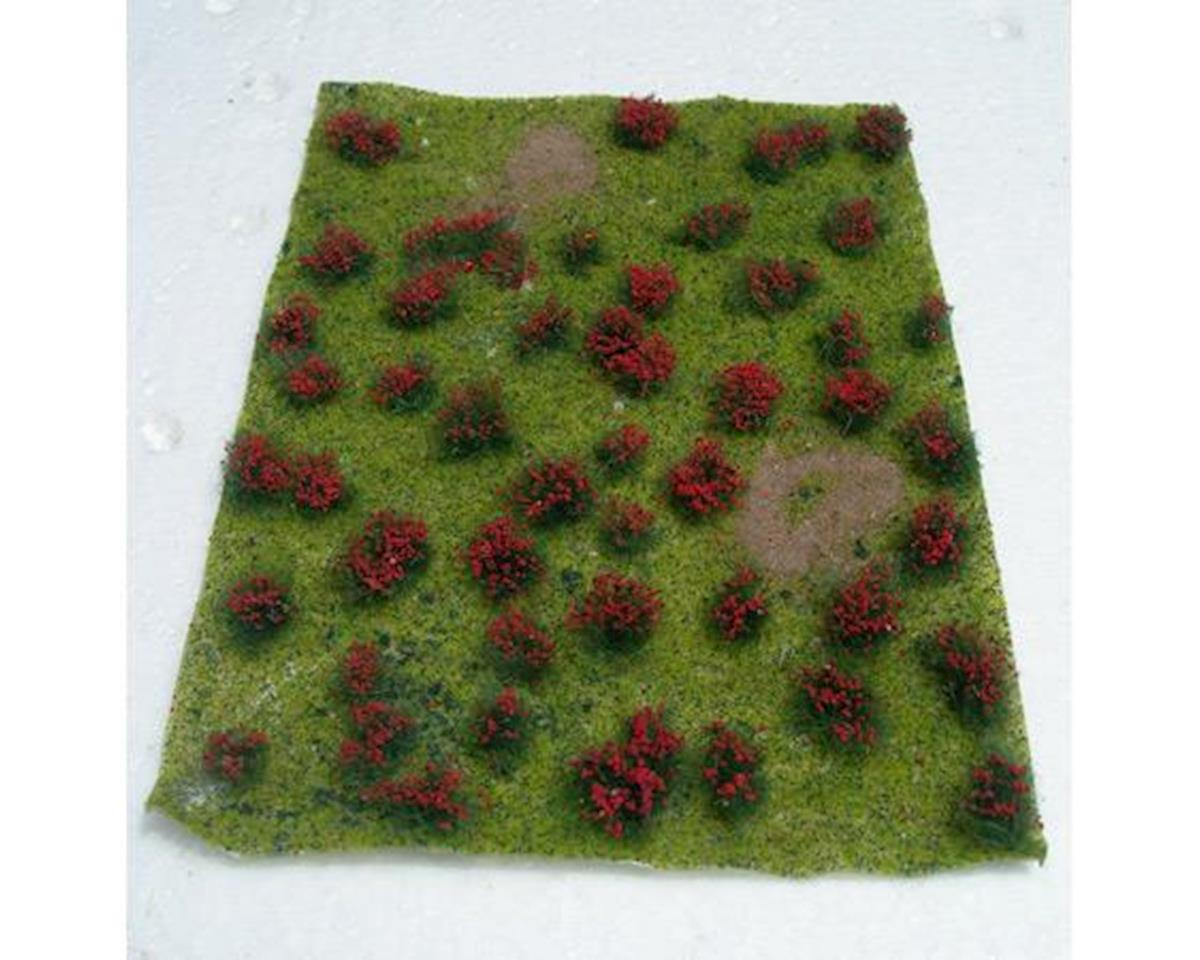 """JTT Scenery Flowering Meadow, Red 5x7"""" Sheet"""