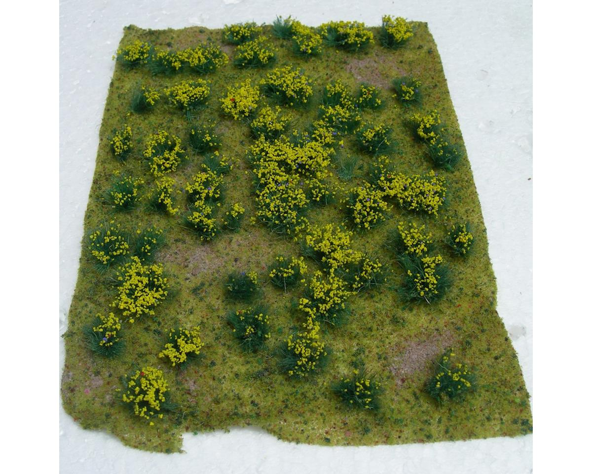 """JTT Scenery Flowering Meadow, Yellow 5x7"""" Sheet"""