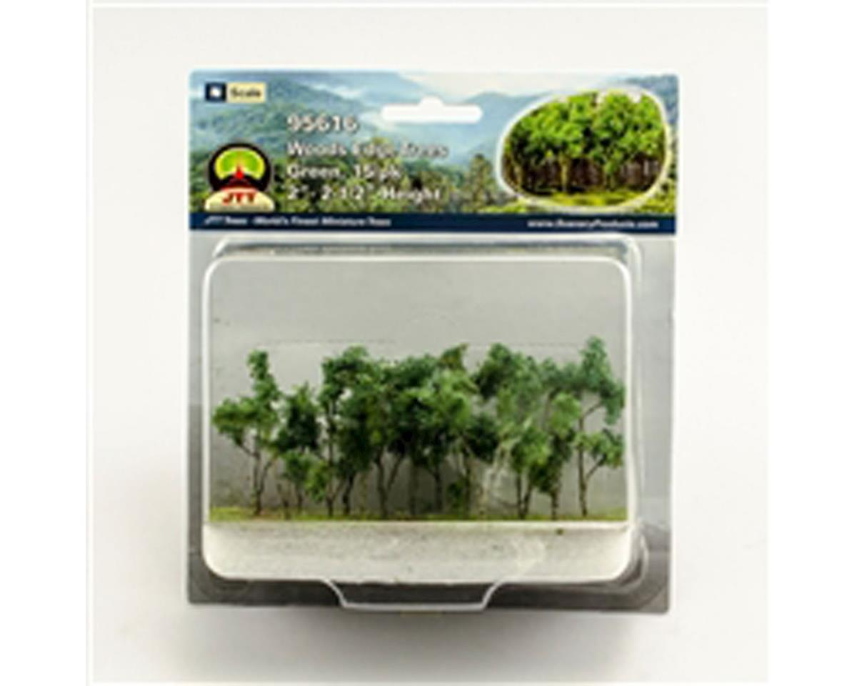 "JTT Scenery Woods Edge Trees, Green 2-2.5"" (15)"