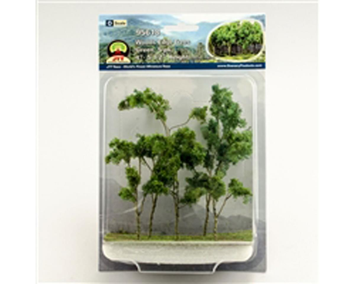 "JTT Scenery Woods Edge Trees, Green 4-5.5"" (5)"