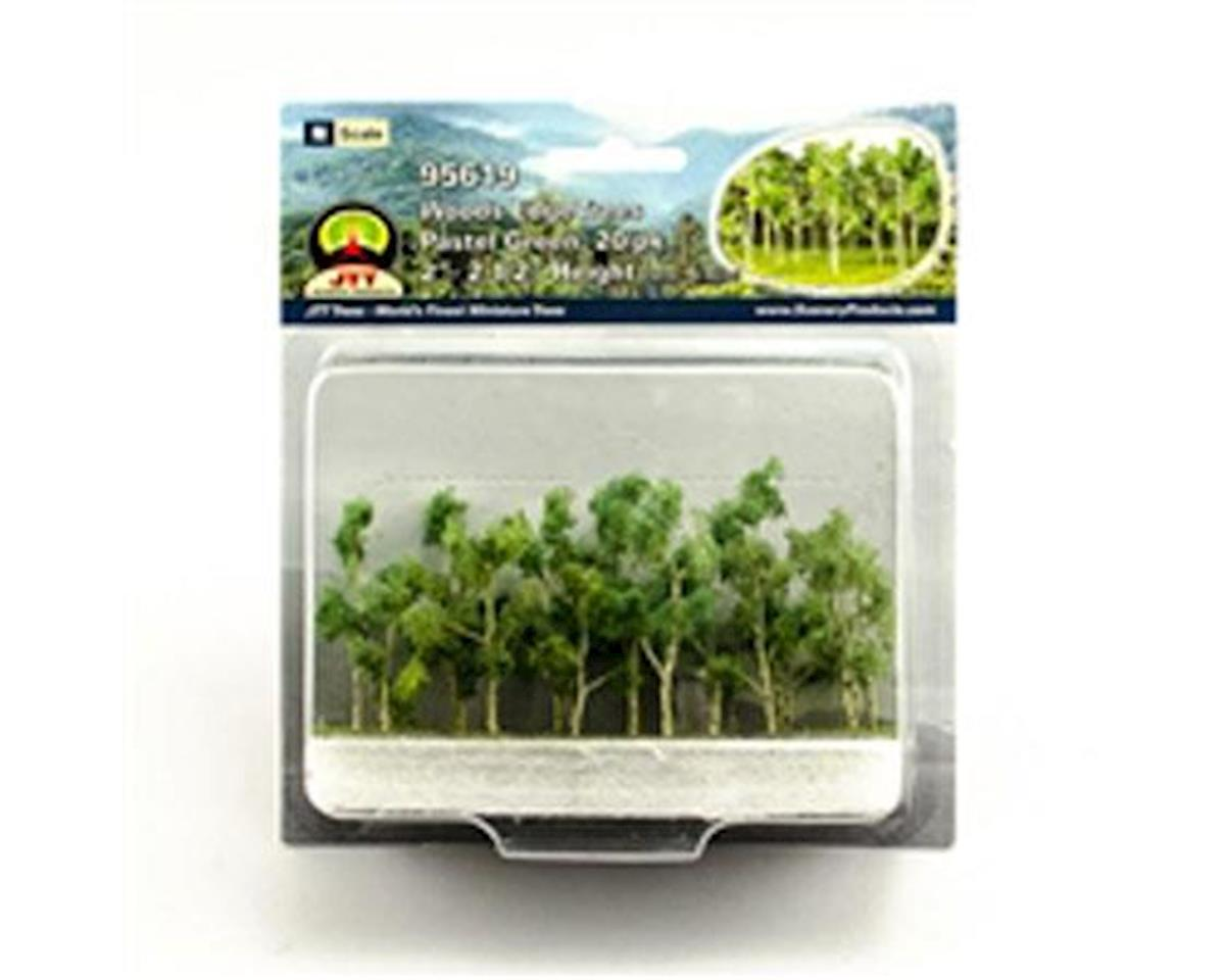 "JTT Scenery Woods Edge Trees, Pastel Green 2-2.5"" (20)"