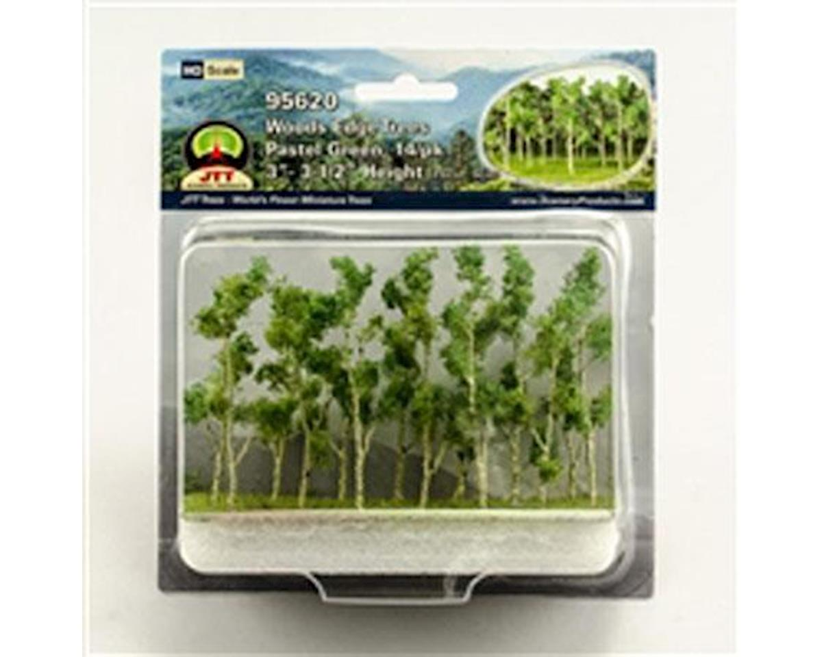 "JTT Scenery Woods Edge Trees, Pastel Green 3-3.5"" (14)"