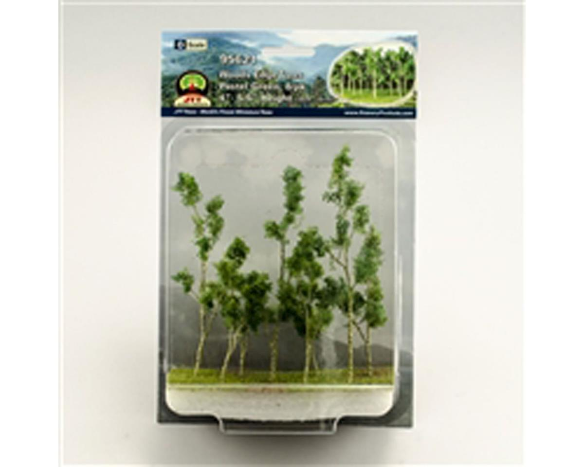 "JTT Scenery Woods Edge Trees, Pastel Green 4-5.5"" (8)"