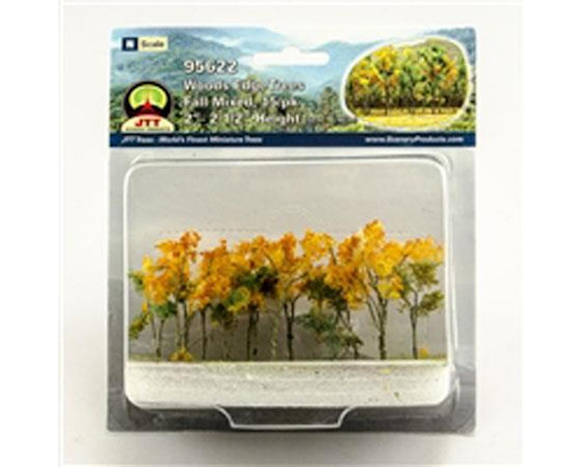 "JTT Scenery Woods Edge Trees, Fall Mixed 2-2.5"" (15)"