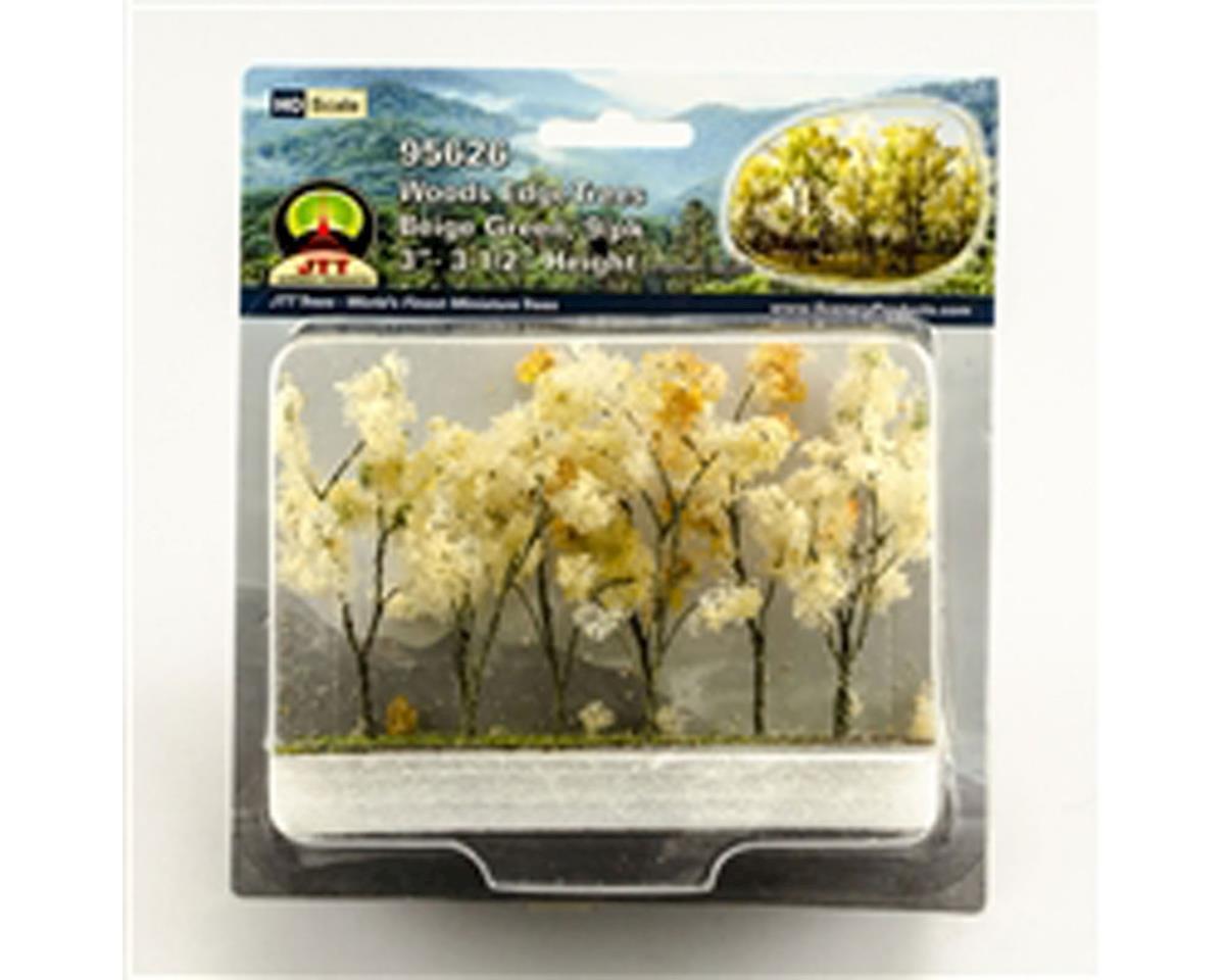 "JTT Scenery Woods Edge Trees,Beige Green 3-3.5"" (9)"