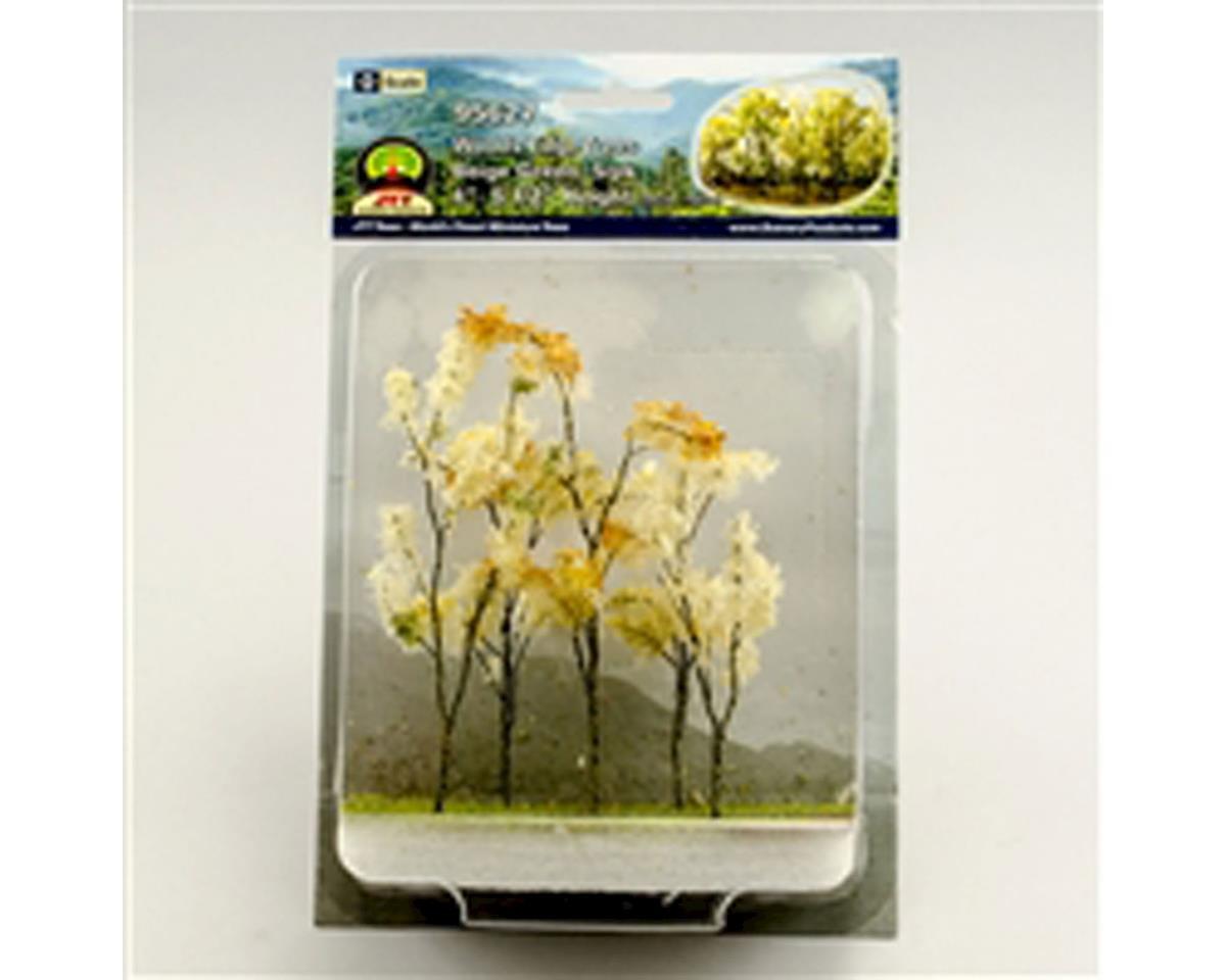 "JTT Scenery Woods Edge Trees,Beige Green 4-5.5"" (5)"