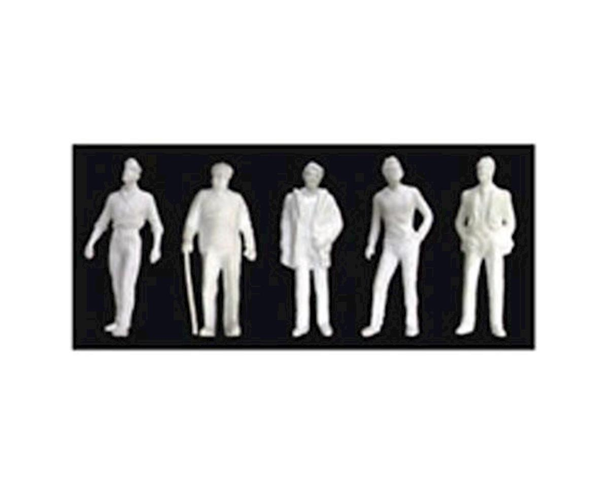 JTT Scenery 1:48 Male Figures, White (5)