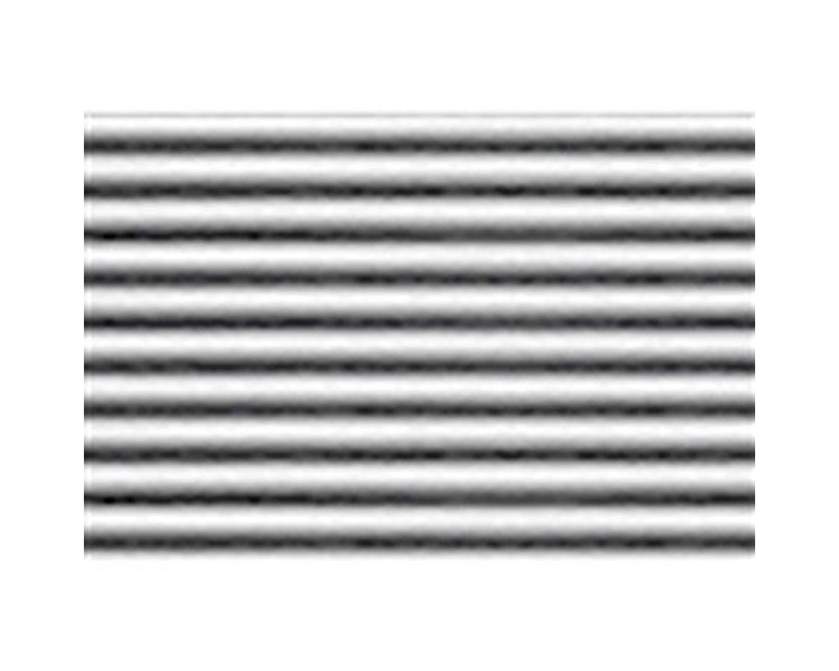 "JTT Scenery 1:100 Corrugated Siding Sheet, 7.5""x12"" (2)"