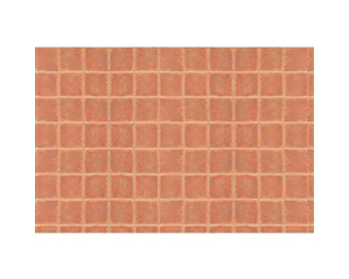 "JTT Scenery 3/16"" Arched Square Tile Sheet, 7.5""x12"" (2)"