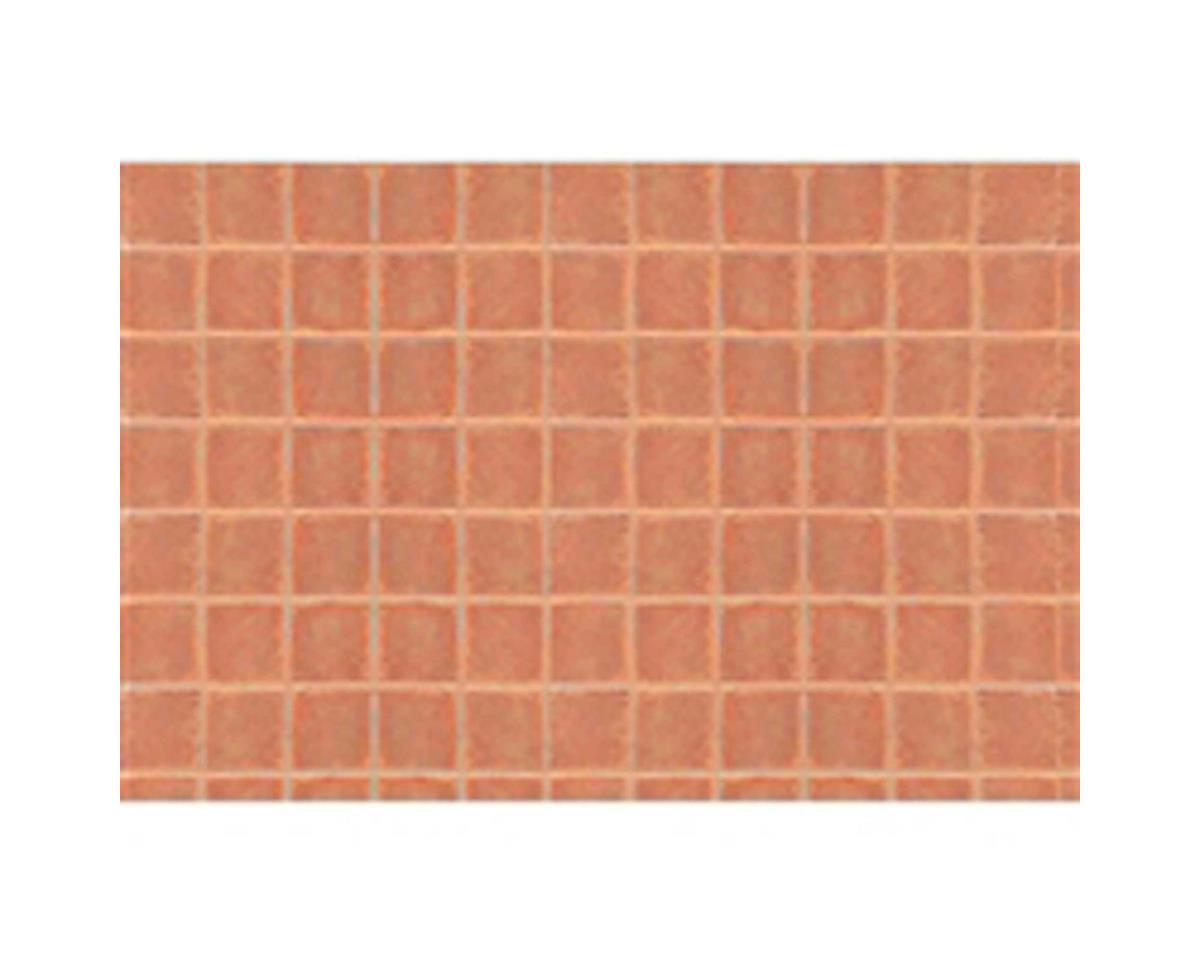 """JTT Scenery 1:48 Square Tile Sheet, 7.5""""x12"""" (2)"""