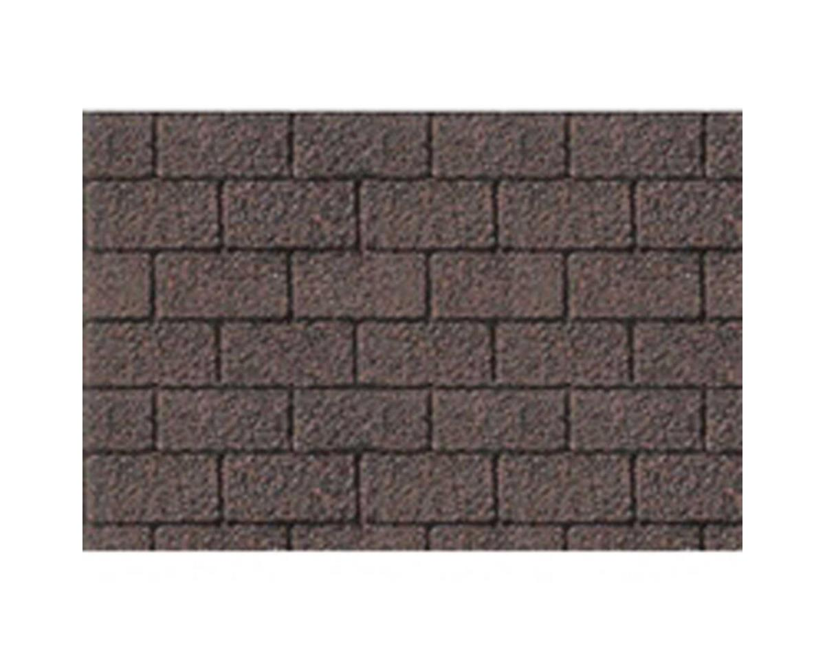 "1:100 Asphalt Shingle Sheet, 7.5""x12"" (2) by JTT Scenery"