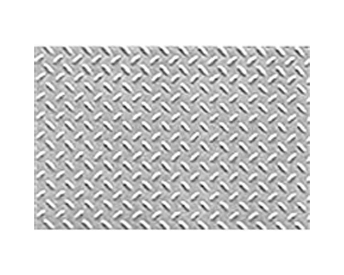 "1:100 Diamond Plate Sheet, 7.5""x12"" (2) by JTT Scenery"