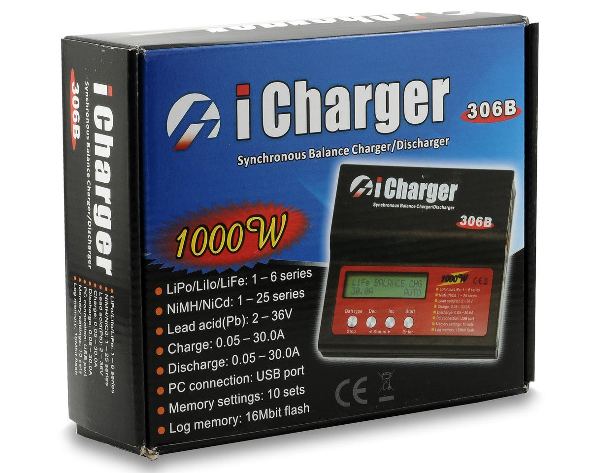 Junsi iCharger 306B Lilo/LiPo/Life/NiMH/NiCD DC Battery Charger (6S/30A/1000W)