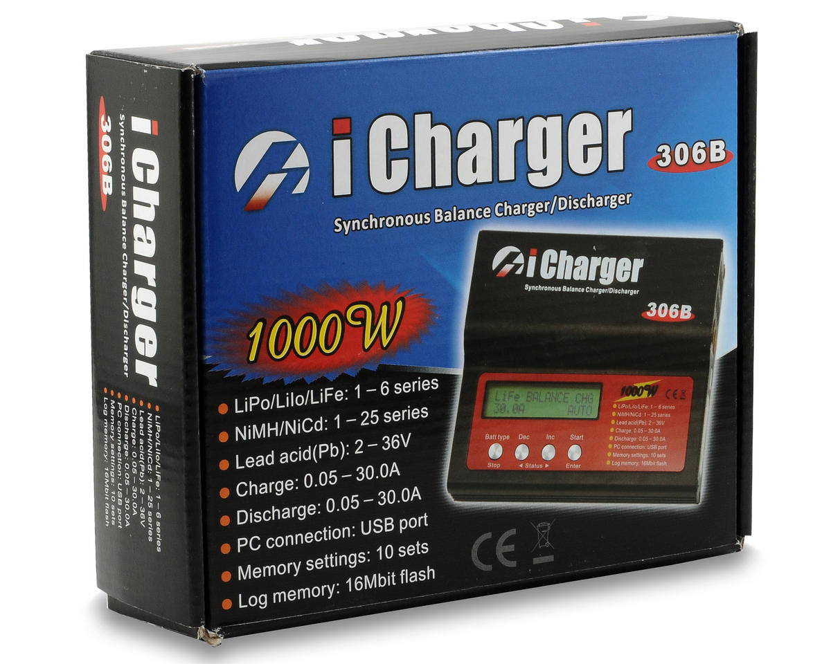 iCharger 306B Lilo/LiPo/Life/NiMH/NiCD DC Battery Charger (6S/30A/1000W) by Junsi