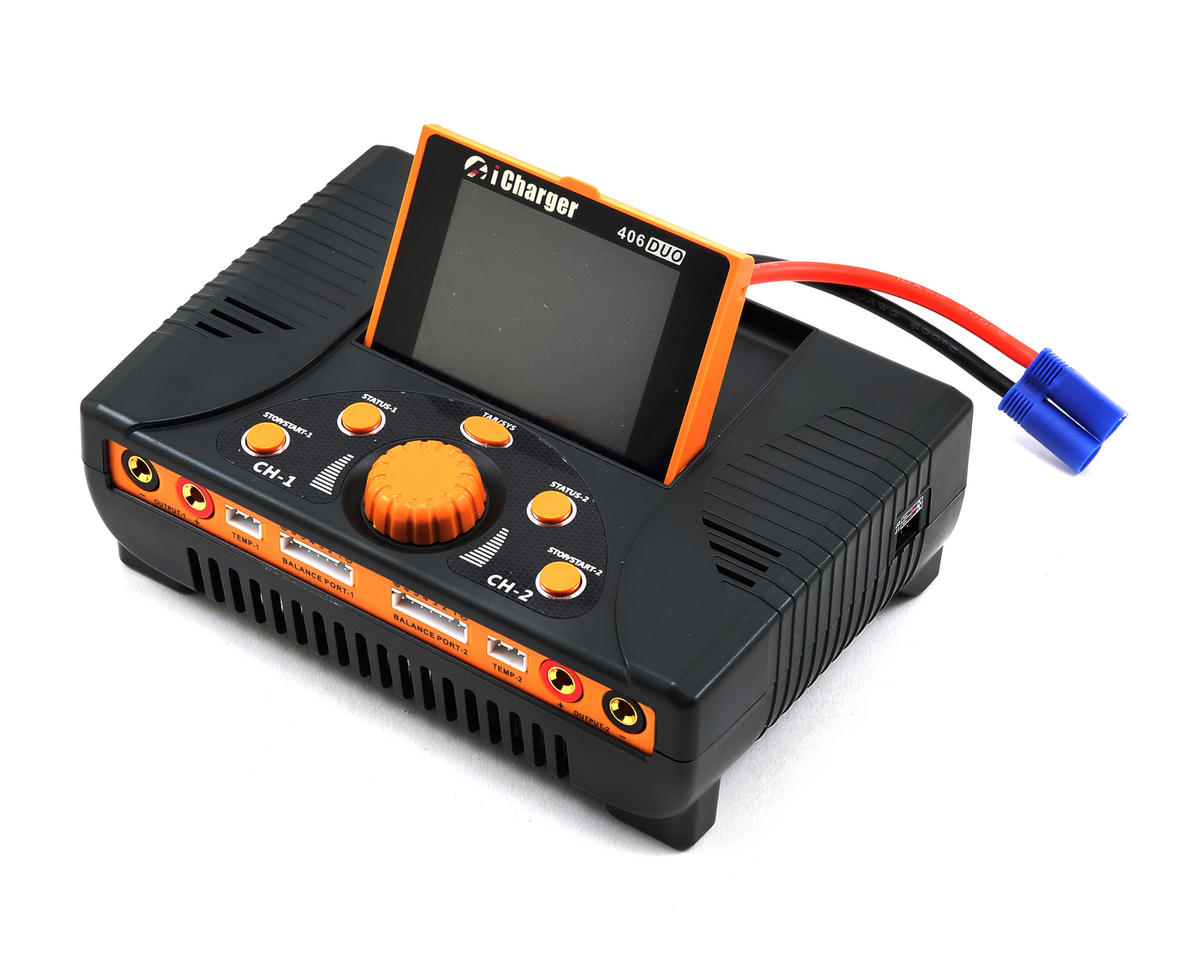 iCharger 406DUO Lilo/LiPo/Life/NiMH/NiCD DC Battery Charger (6S/40A/1400W) by Junsi