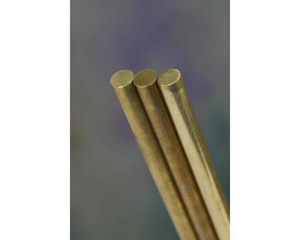 "K&S Engineering Solid Brass Rod, 36"", 1/4"" (4)"