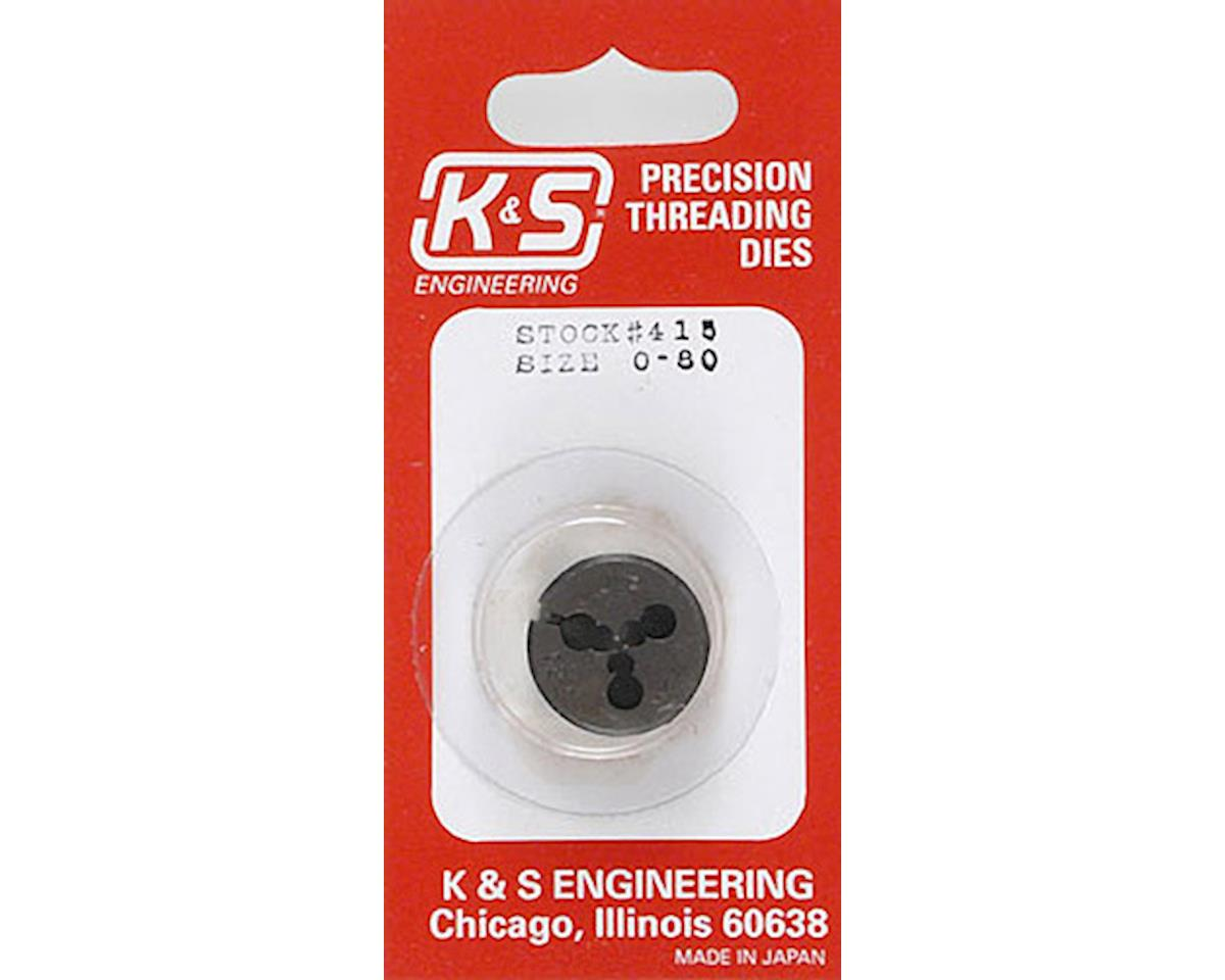 K&S Engineering Threading Die,0-80