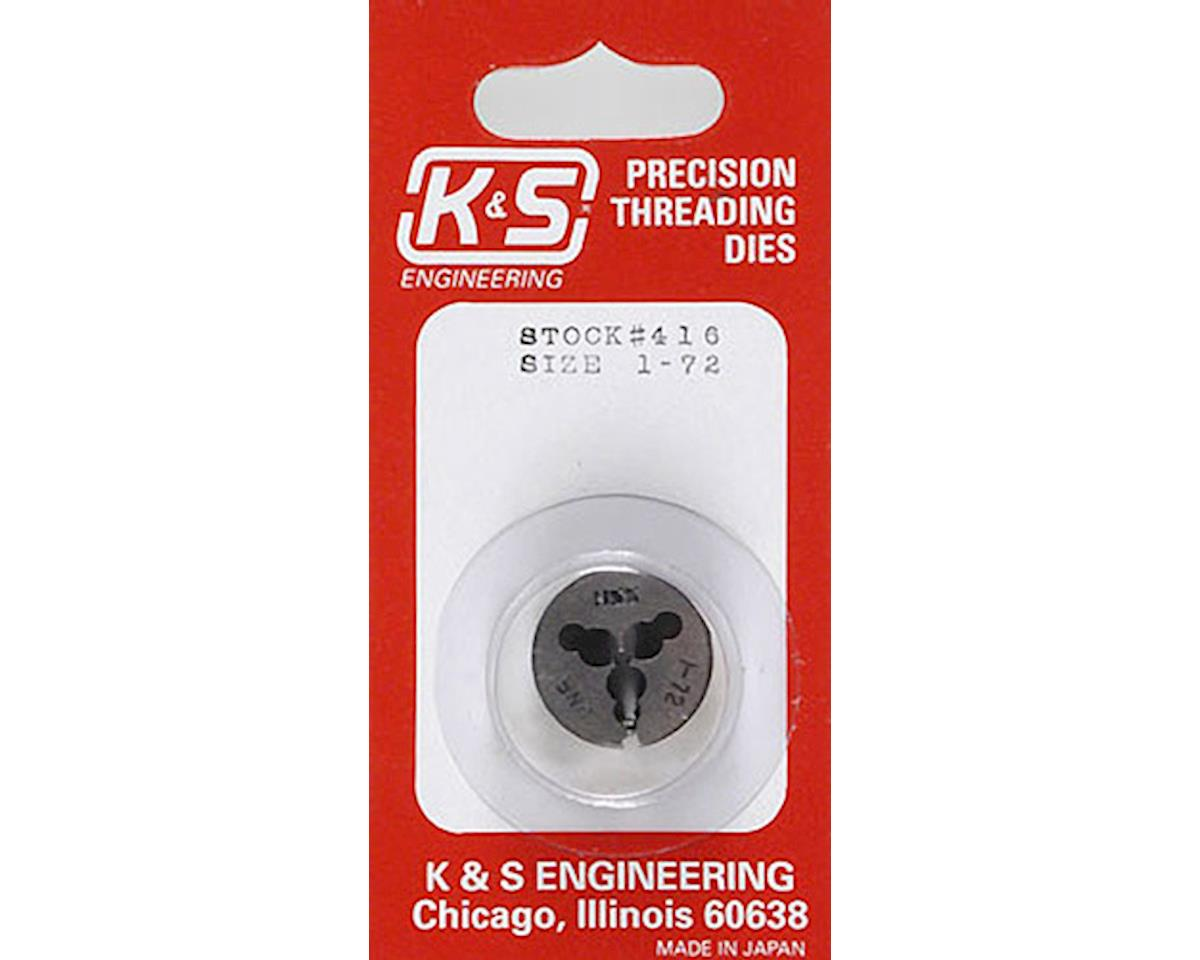 K&S Engineering Threading Die,1-72