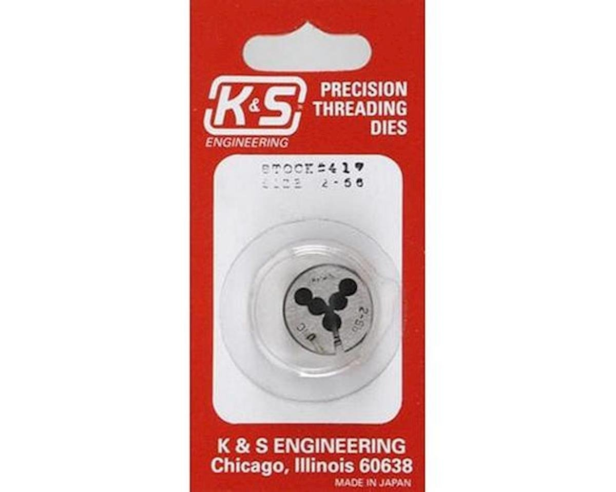 K&S Engineering Threading Die,2-56