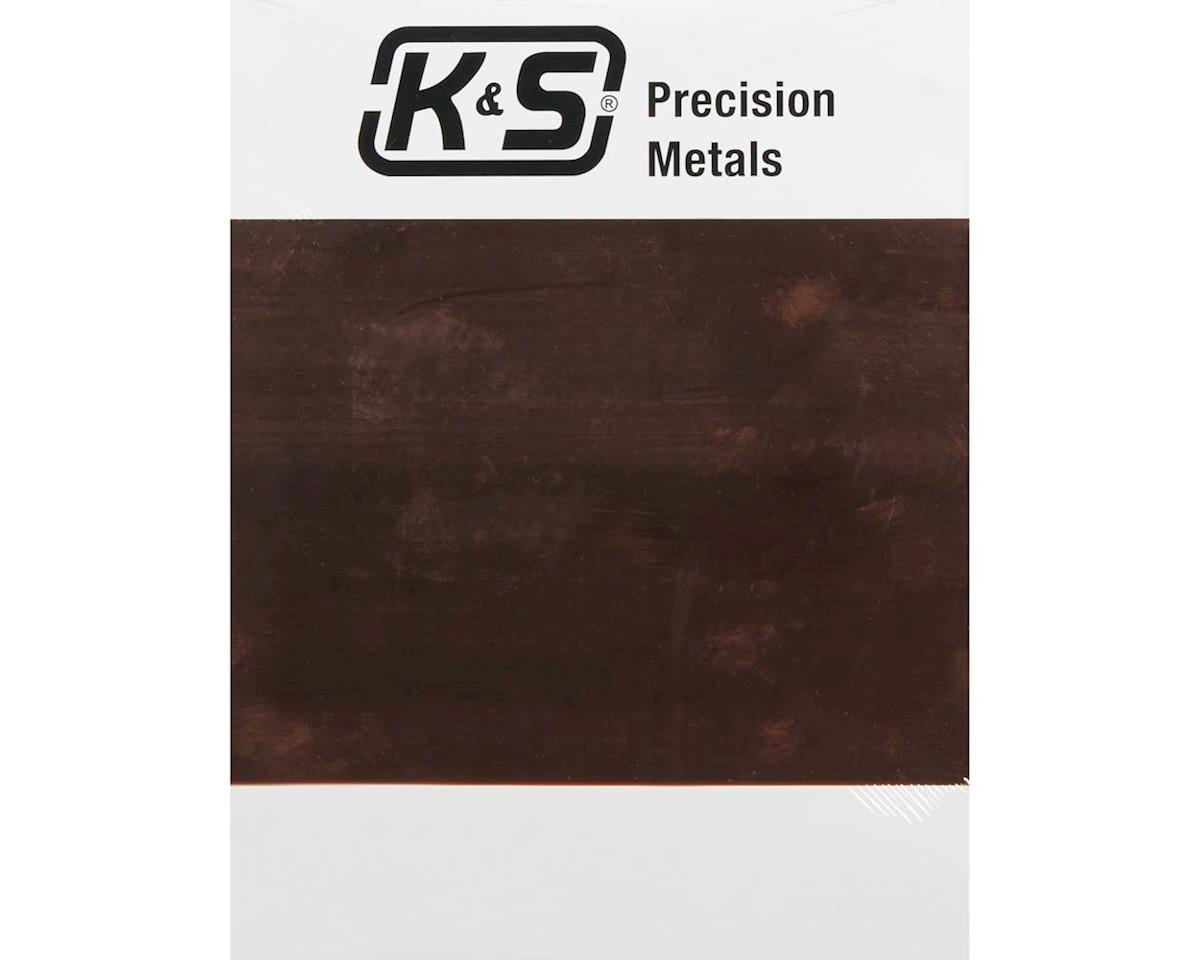 """K&S Engineering 6532 Copper Sheet .013 8x10"""" (1)"""