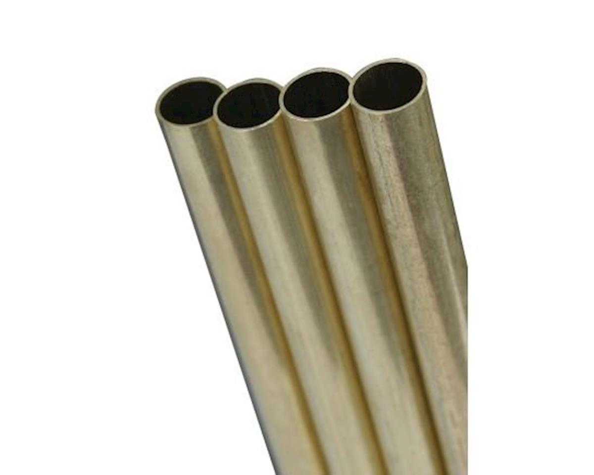 "K&S Engineering Round Brass Tube 9/16"", Carded"