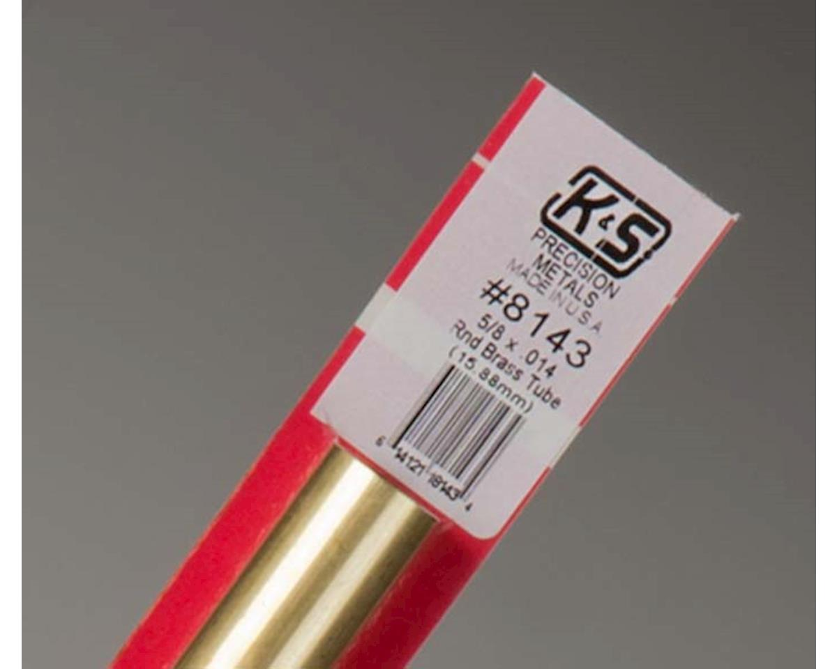 "Round Brass Tube 5/8"", Carded by K&S Engineering"