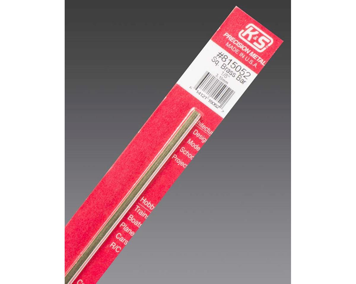 K&S Engineering Square Bar 1/8', Carded