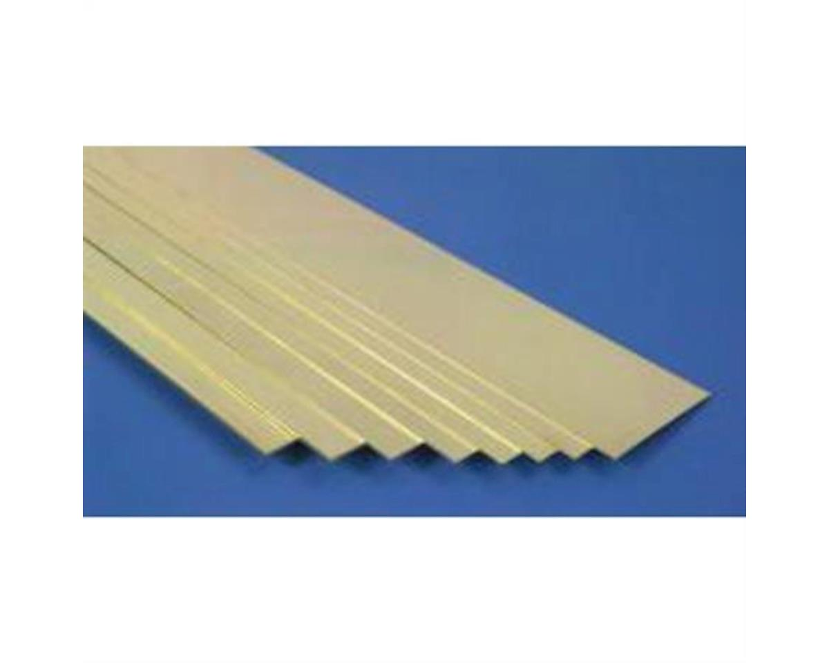 """Brass Strips 12"""", 025 X 2"""", Carded by K&S Engineering"""