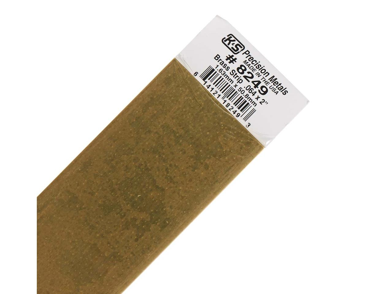 "K&S Engineering Brass Strips 12"", .064 X 2"", Carded"