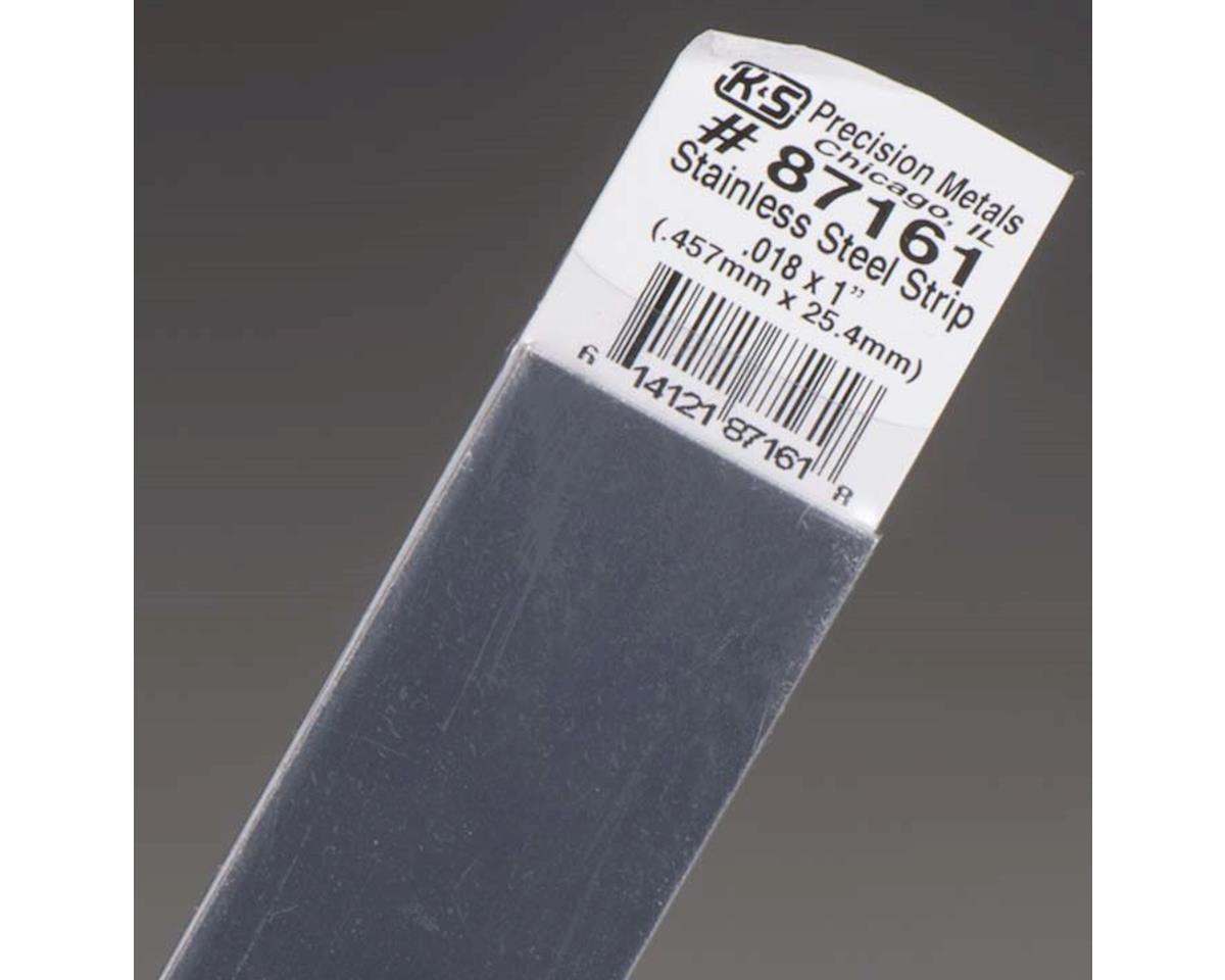 """K&S Engineering Stainless Steel Strip .016 X 1"""", Carded"""
