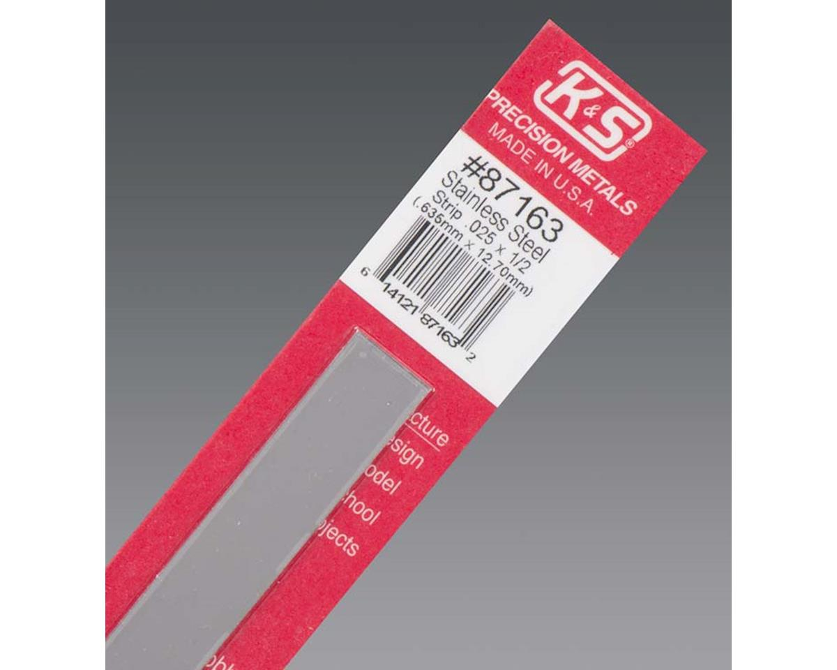 "K&S Engineering Stainless Steel Strip .012 X 1/2"", Carded"