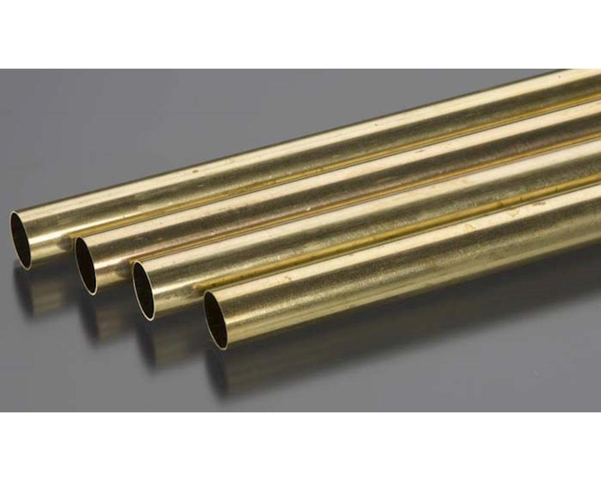 "K&S Engineering Round Brass Tube,36"",1/2 (4)"
