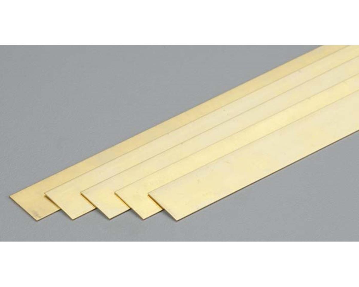 "K&S Engineering 9712 Brass Strip .016x1/2x36"" (5)"